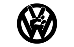 vw peace tabs Free Dxf for CNC