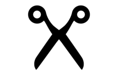 scissor silhouette Free Dxf for CNC