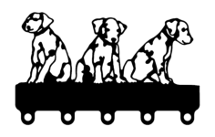 puppies coat hook Free Dxf for CNC