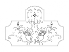 floral design Free Dxf for CNC