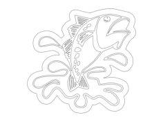 fish splash Free Dxf for CNC