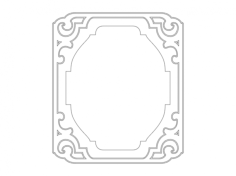 frame 1 Free Dxf for CNC
