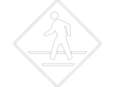 cross walk Free Dxf for CNC