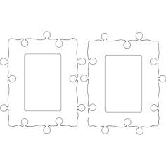 cadres photo 10×15 Free Dxf for CNC