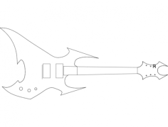 beast guitar Free Dxf for CNC