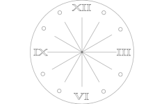 clock roman numeral Free Dxf for CNC