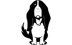 basset hound Free Dxf for CNC