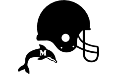 dolphin helmet 3d Free Dxf for CNC