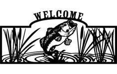 welcome sign Free Dxf for CNC