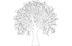 tree of life full carve Free Dxf for CNC