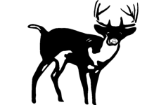 deer standing Free Dxf for CNC