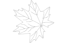 maple leaf Free Dxf for CNC