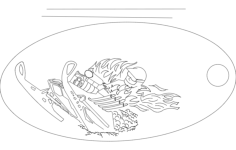 snow skiing Free Dxf for CNC