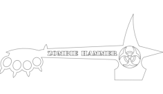 zombie hammer Free Dxf for CNC