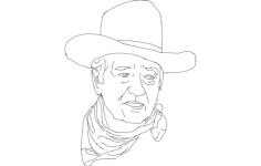 john wayne  Free Dxf for CNC