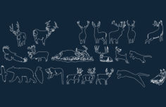 forest images art disk animals Free Dxf for CNC