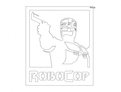 robocop 1 5mm Free Dxf for CNC