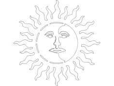sun moon Free Dxf for CNC