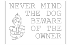 beware owner Free Dxf for CNC