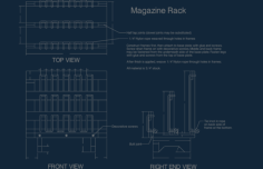magazine rack Free Dxf for CNC