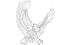 eagle attack Free Dxf for CNC
