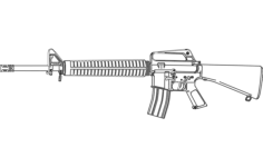 m16 rifle Free Dxf for CNC