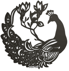 peacock Free Dxf for CNC