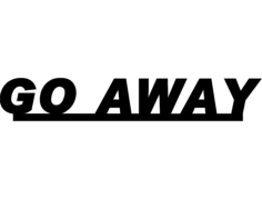 goaway Free Dxf for CNC