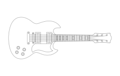 guitar Free Dxf for CNC