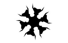 flake1xb Free Dxf for CNC