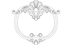 frame round 5 Free Dxf for CNC