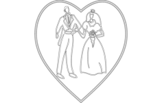 bride groom Free Dxf for CNC