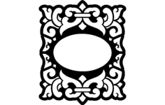 oval frame Free Dxf for CNC