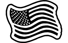 americanflag 1 Free Dxf for CNC