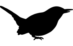 wren silhouette Free Dxf for CNC