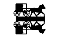 horse cart Free Dxf for CNC