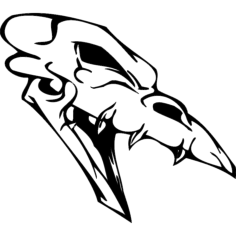skull 008 Free Dxf for CNC