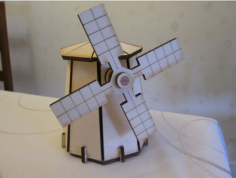 windmill Free Dxf for CNC