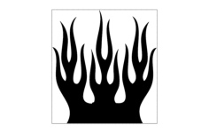 flames Free Dxf for CNC