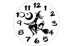 horloge sorciere Free Dxf for CNC