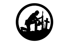 soldier with cross in a circle Free Dxf for CNC