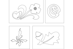flower designs Free Dxf for CNC