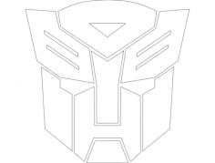 autobot logo Free Dxf for CNC
