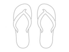 flip flops plain Free Dxf for CNC