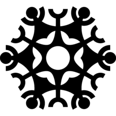 snowflake design Free Dxf for CNC