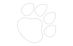 dog paw print Free Dxf for CNC