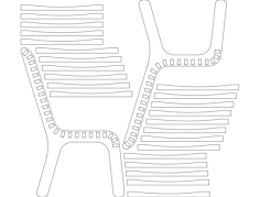 desk chair Free Dxf for CNC