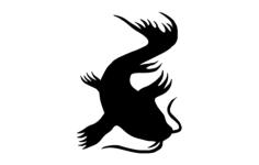 koi silhouette Free Dxf for CNC