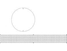 caixa redonda Free Dxf for CNC