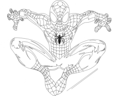 spidey (spider-man) Free Dxf for CNC